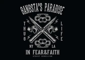 Gangsta's Paradise t shirt design