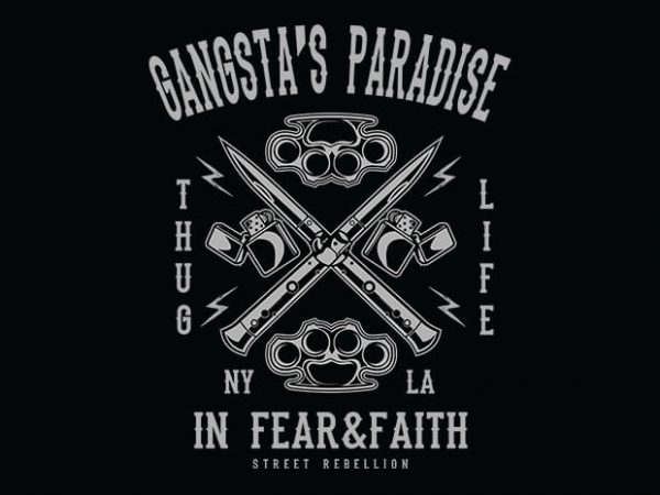 Gangsta's Paradise t shirt design buy t shirt design