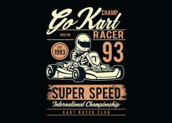 Go Kart Racer t shirt design buy t shirt design