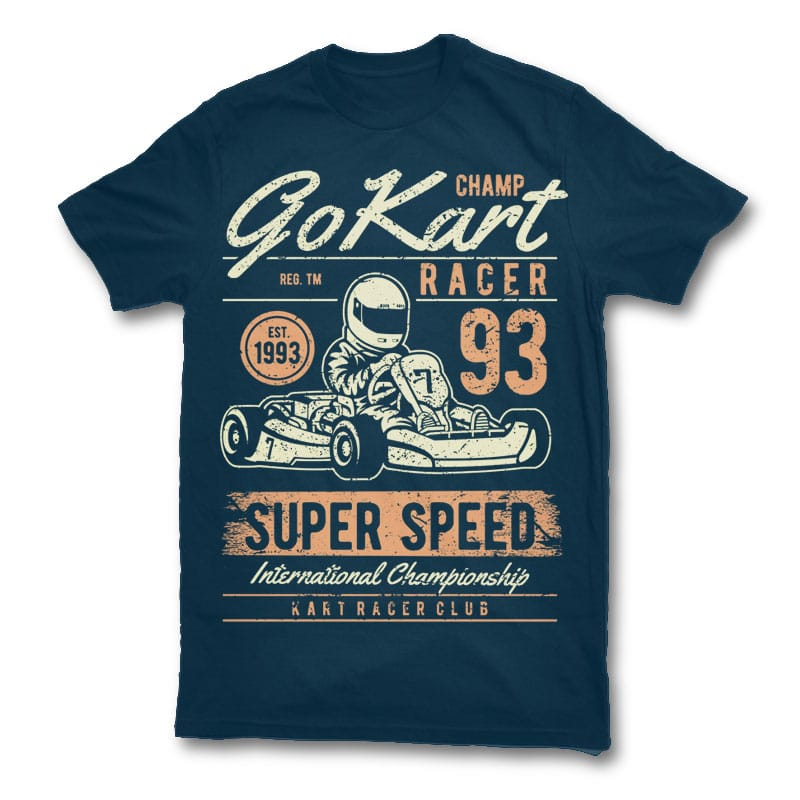 Go Kart Racer t shirt design buy t shirt design
