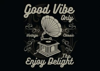 Good Vibe Only buy t shirt design