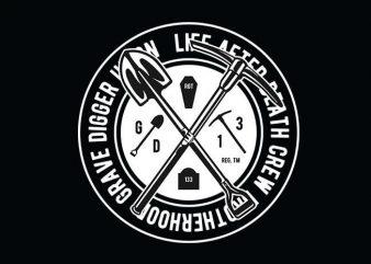 Grave Digger t shirt design buy t shirt design