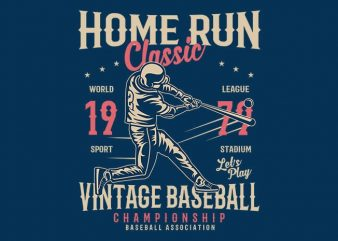 Home Run Classic t shirt design buy t shirt design
