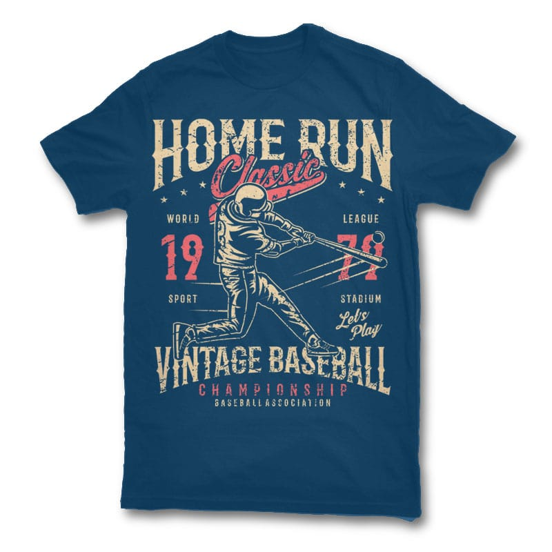 Home Run Classic t shirt design buy t shirt design