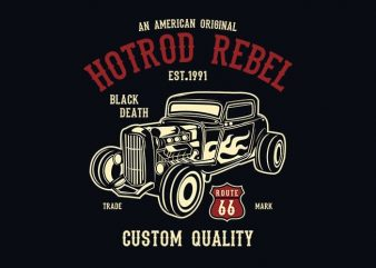 Hot Rod Rebel t shirt design buy t shirt design
