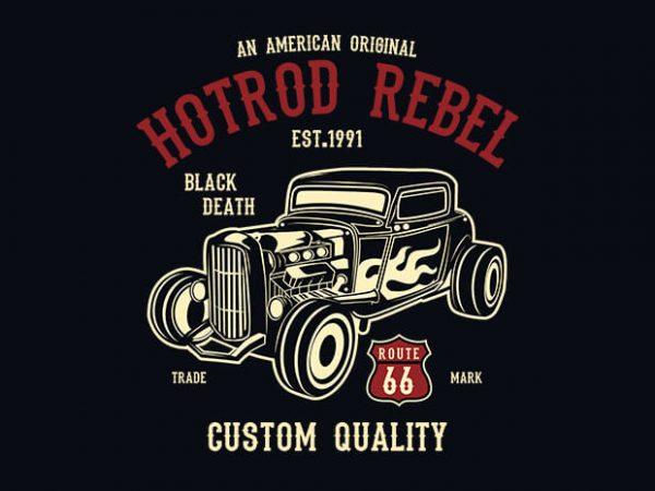 Hot Rod Rebel t shirt design buy t shirt design