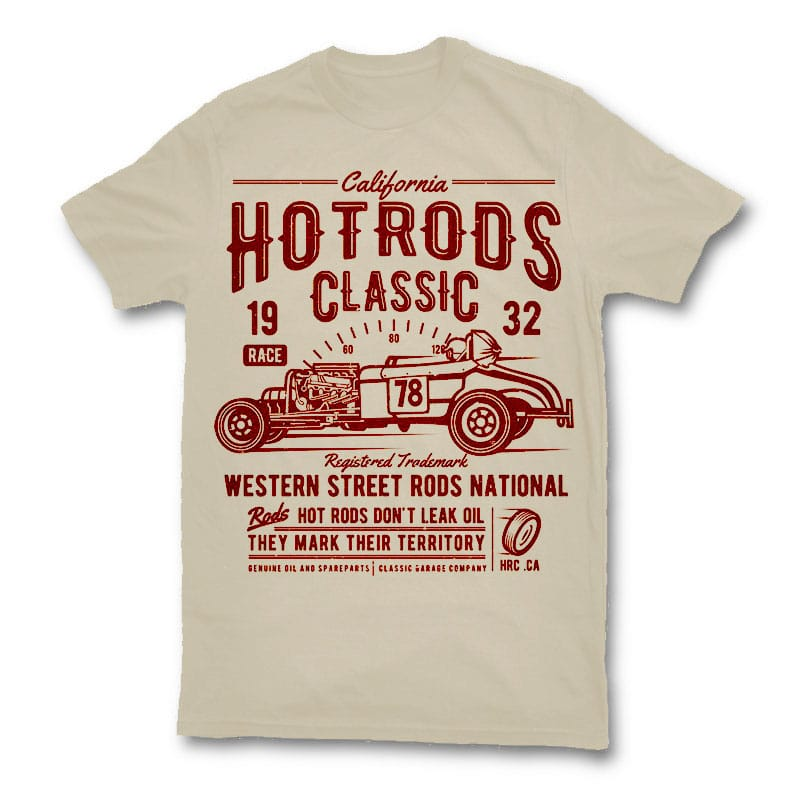 Hot Rods Race Classic t shirt design buy t shirt design