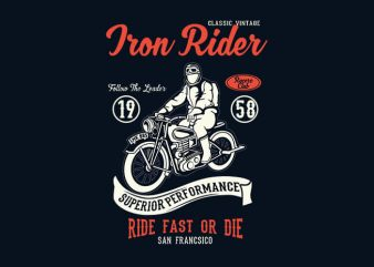 Iron Rider t shirt design