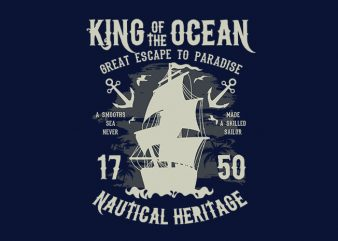 King Of The Ocean t shirt design