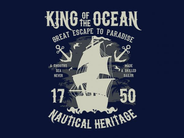 King Of The Ocean t shirt design buy t shirt design