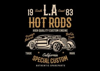 LA Hot Rods t shirt design