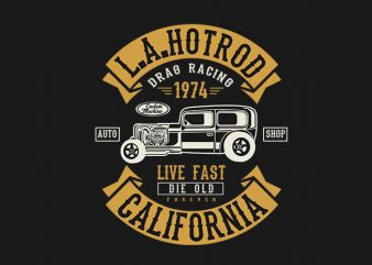 LA Hotrod t shirt design buy t shirt design