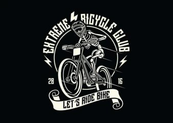 Let's Ride Bike t shirt design buy t shirt design