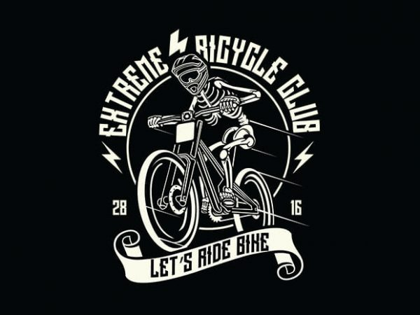 Let's Ride Bike t shirt design