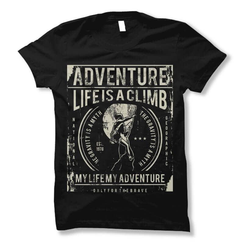 Life Is A Climb t shirt design buy t shirt design