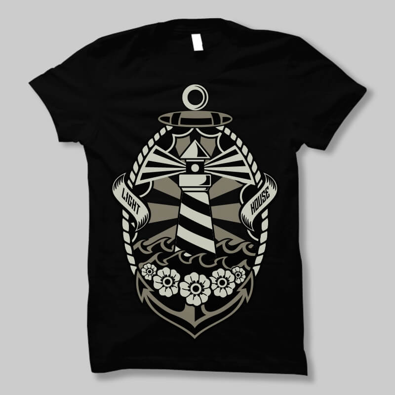 Lighthouse t shirt design buy t shirt design