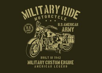 Military Ride t shirt design