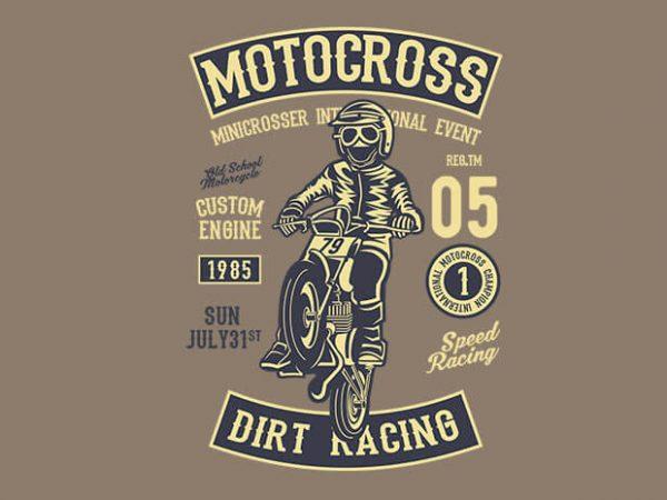 Moto Cross t shirt design