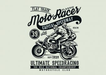 Moto Racer Classic t shirt design buy t shirt design