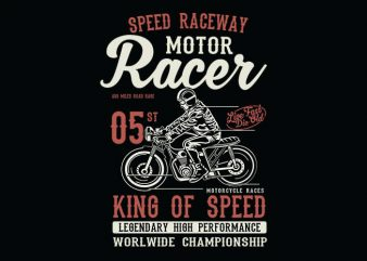 Motor Racer t shirt design buy t shirt design