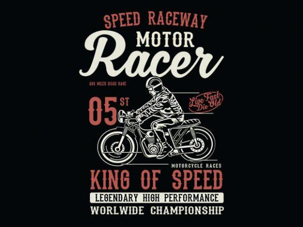 Motor Racer t shirt design