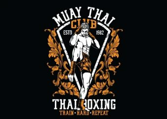 Muay Thai Club buy t shirt design