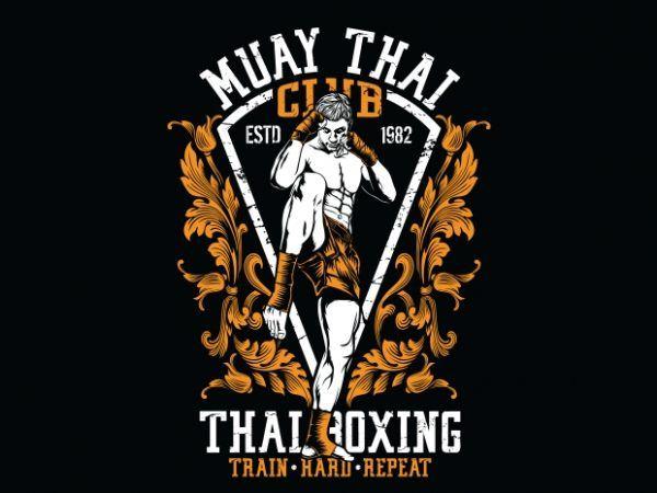 Muay Thai Club t shirt designs for sale