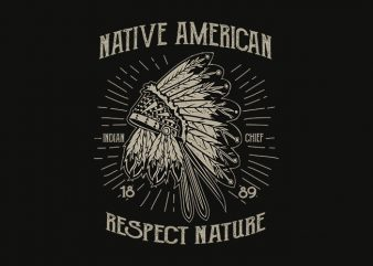 Native American 1 t shirt design