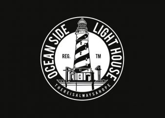 Ocean Side Light House t shirt design buy t shirt design