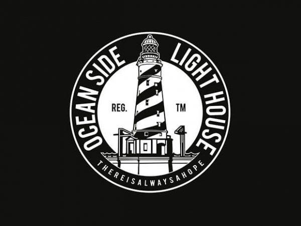 Ocean Side Light House t shirt design buy t shirt design