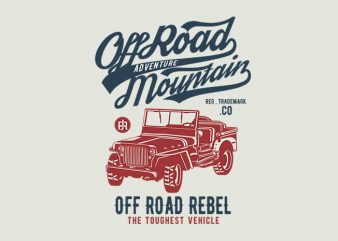 Off Road Jeep t shirt design t shirt template