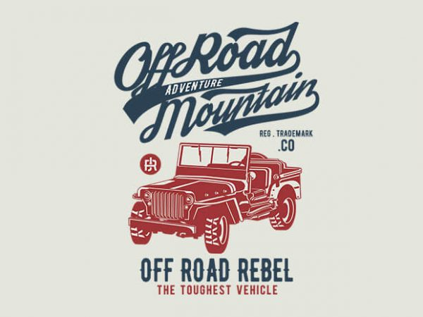 Off Road Jeep 600x450 - Off Road Jeep t shirt design buy t shirt design