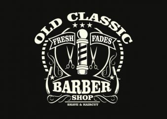 Old Classic Barber t shirt design buy t shirt design