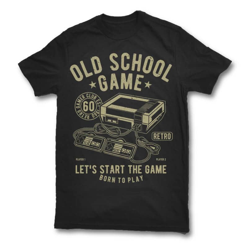 Old School Game t shirt design buy t shirt design