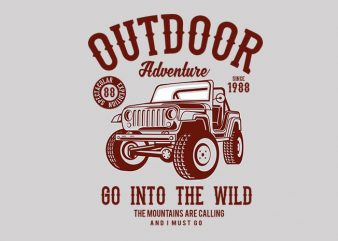 Outdoor Adventure 2 t shirt design t shirt template