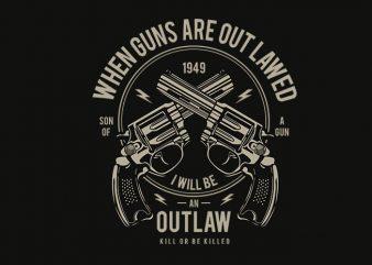Outlaw t shirt design t shirt template