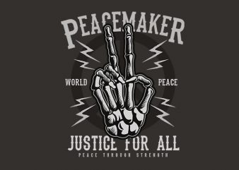 Peace Maker t shirt design buy t shirt design