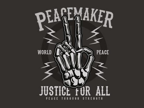 Peace Maker t shirt design buy t shirt design
