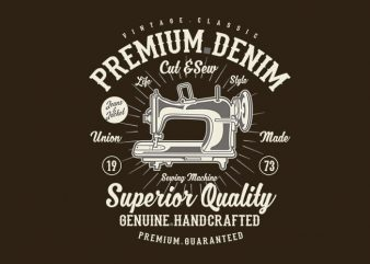 Premium Denim tshirt design