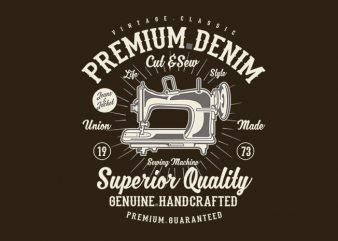 Premium Denim tshirt design buy t shirt design