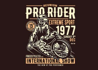 Pro Rider tshirt design buy t shirt design