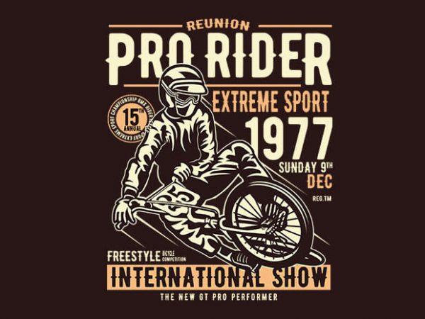 Pro Rider tshirt design buy t shirt design