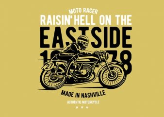 Raisin Hell Moto Racer buy t shirt design