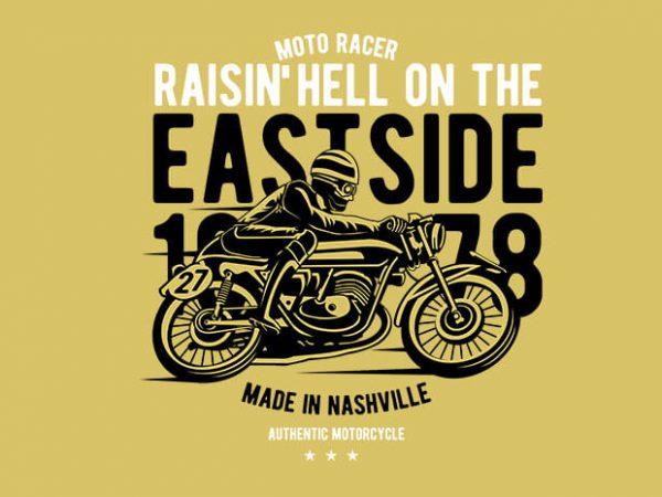 Raisin Hell Moto Racer t shirt design online