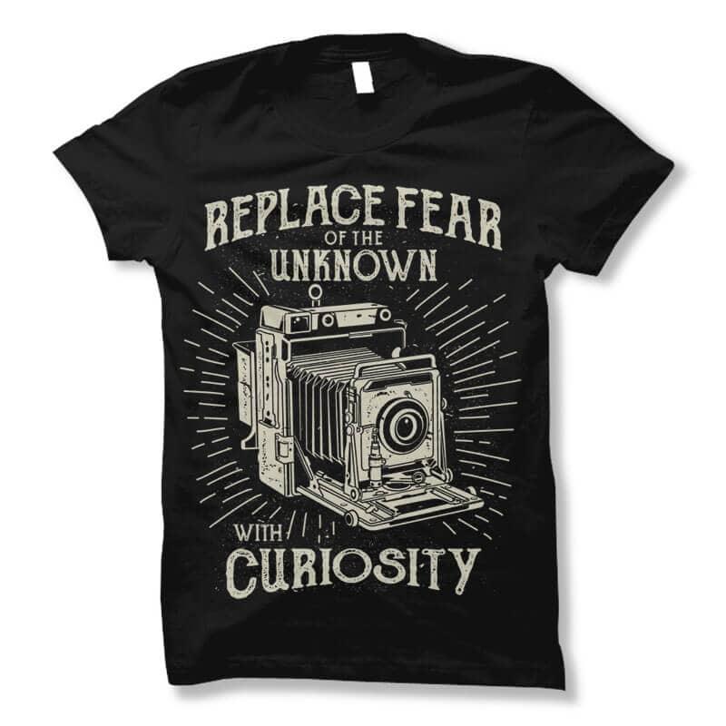 Replace Fear tshirt design buy t shirt design