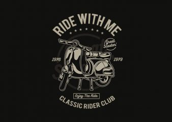 Ride With Me tshirt design buy t shirt design