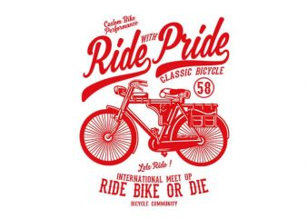 Ride With Pride tshirt design buy t shirt design