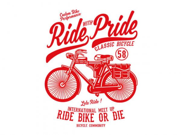 Ride With Pride 600x450 - Ride With Pride tshirt design buy t shirt design
