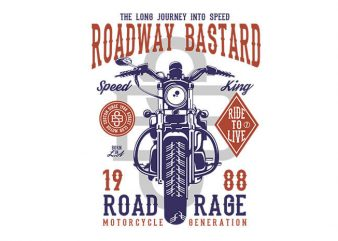 Roadway Bastard tshirt design buy t shirt design