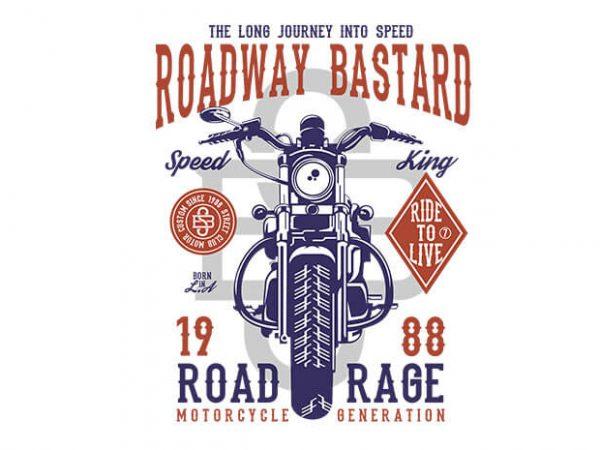 Roadway Bastard 600x450 - Roadway Bastard tshirt design buy t shirt design